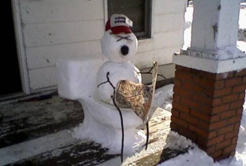 Redneck snowmen and what I think of people who are quick to judge